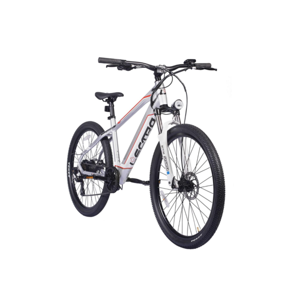 Lectro peak electric mountain bike tilted side view