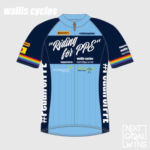 Riding for PPE Jersey - Front View